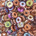 O Bead 4 mm Crystal Copper Rainbow x5g