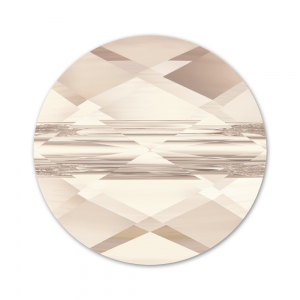 Mini Round Swarovski 5052 6 mm Light Silk x1
