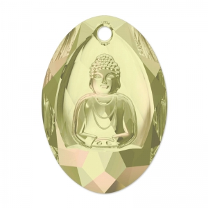 Buddha Swarovski 6871 28x19.8 mm Crystal Luminous Green x1