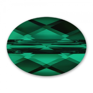 Mini Oval Swarovski 5051  8x6 mm Emerald x1