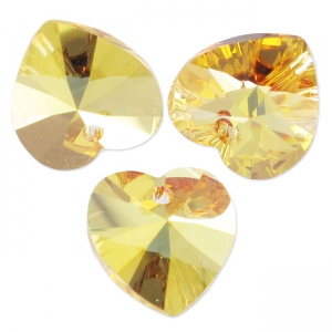 Corazones Swarovski 6228 10,3x10 mm Crystal Metallic Sunshine x6