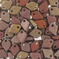 Dragon Scale Bead 1.5x5 mm Bronce Mix x5g