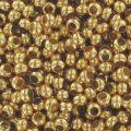 Rocallas de metal 11/0 Chapado Oro 24 quilates x10g
