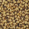 Rocallas de metal 11/0 Chapado Oro 24 quilates x10g