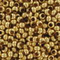 Rocallas de metal 11/0 dorado x10g