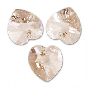 Corazón Swarovski 6228 14,4x14 mm Light Silk x1