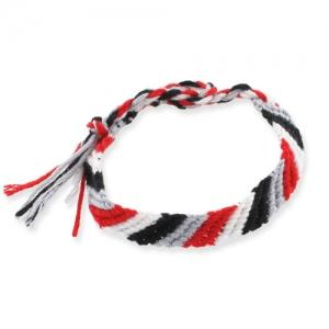 9127a21cdb8e ... Pulsera brasileña en diagonal 10 mm Rojo Gris Negro Blanco x1