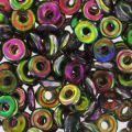 O Bead 4 mm Magic Violet Green x5g