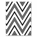 Rectángulo de fieltro chevron 1,5 mm 30,5x22,9 cm Noir x1
