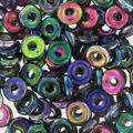 O Bead 4 mm Magic Blue Pink x5g