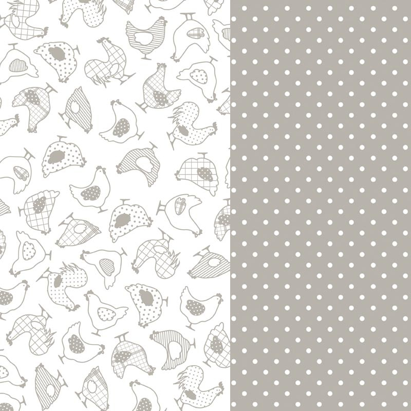 Hojas de papel decorativo a pegar galinas gris x2 for Papel autoadhesivo decorativo