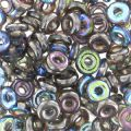 O Bead 4 mm Crystal Graphite Rainbow x5g