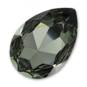 Cabuchón Swarovski 4327 pera 30x20 mm Black Diamond
