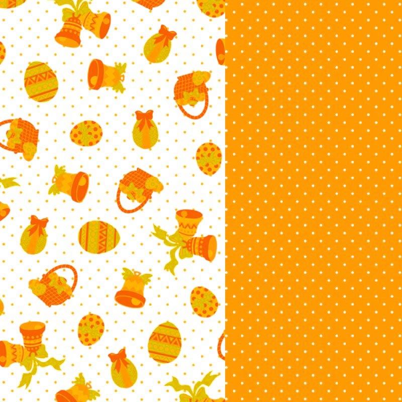 Hojas De Papel Decorativo A Pegar Paniers De Pascua Orange