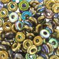 O Bead 4 mm Crystal Golden Rainbow x5g