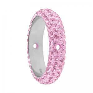 Pavé Ring dos aguejeros Swarovski 185001 14.5 mm Light Rose x1