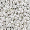 Rocallas de metal 11/0 plateado x10g