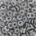 O Bead 4 mm Pastel Light Grey/Silver x5g