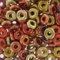 O Bead 4 mm Jet California Gold Rush x5g