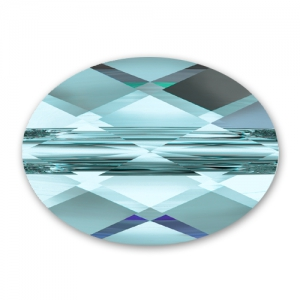 Mini Oval Swarovski 5051  8x6 mm Aquamarine x1