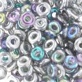 O Bead 4 mm Crystal Silver Rainbow x5g