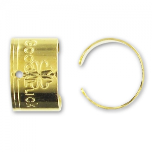 Anillos para orejas Good Luck 9.5x6 mm dorado x10