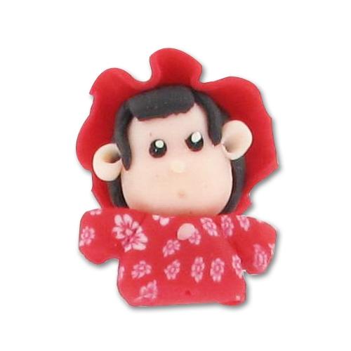 Muñeca Fimo 27 mm sombrero rojo x1 - Perles   Co 27c3904e8a0