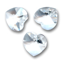 Corazones Swarovski 6228 Crystal  Unfoiled 10,3x10 mm x6