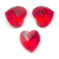 Corazones Swarovski 6228 Light Siam AB 10,3x10 mm x6