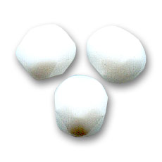 Facetadas 3 mm Opaco White  x50