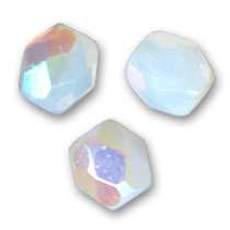 Facetadas 4 mm White Opal AB x50