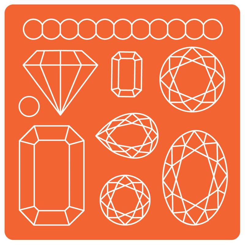 Molde de silicona mod podge piedras preciosas perles co - Moldes para piedras artificiales ...
