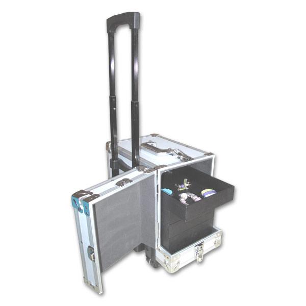 Malet n de transporte para joyas con cerradura y ruedas - Maletin herramientas con ruedas ...