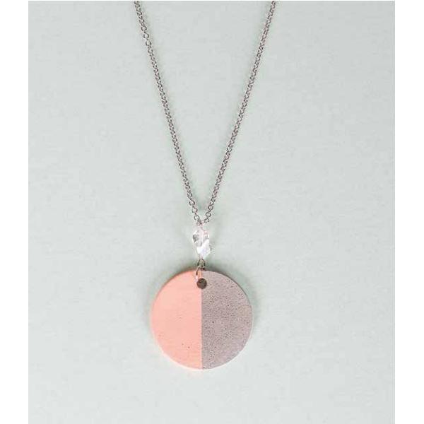 Ronda de hormigón collar colgante de joyería - Perles & Co