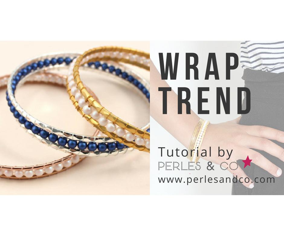 Easy Wrap Bracelet Tutorial con perlas Swarovski y 2 anillos ...