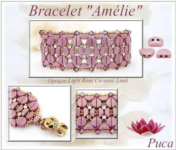 Pulsera de cuentas de cristal Amelie KOS de Puca - Perles & Co