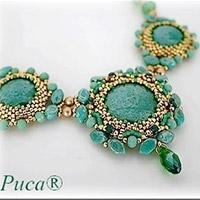7e0f008242bd Collar Lady Green con Paros y abalorios Swarovski de Puca