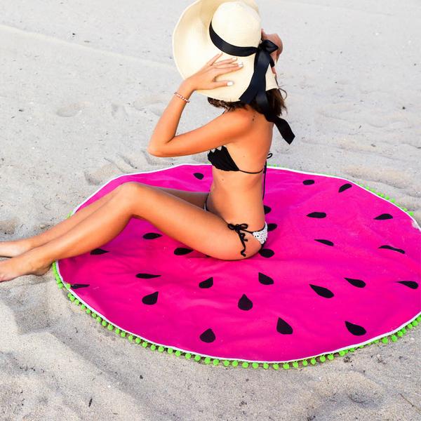 Toalla de playa redonda diy sand a algod n perles co - Toallas redondas de playa ...
