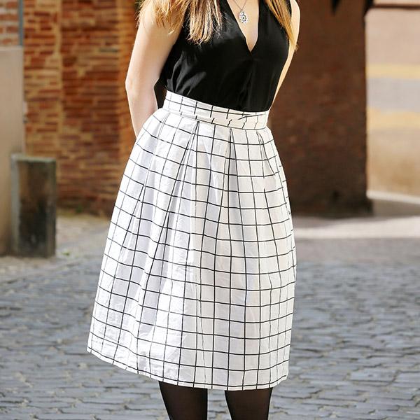 Falda plisada costura fácil de bricolaje - Perles & Co