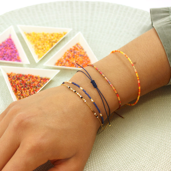 ced6e09e4805 Ultra-simples pulseras Miyuki y criollos - Perles   Co
