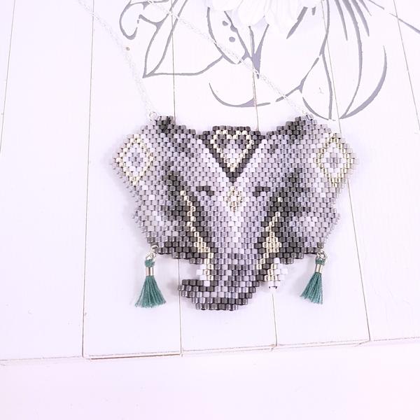 patrón de cabeza de elefante tejer puntada de ladrillo con Miyuki ...