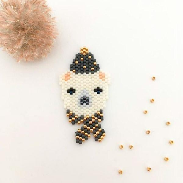 patrón de oso polar tejer puntada a ladrillo Mi pequeño bazar ...
