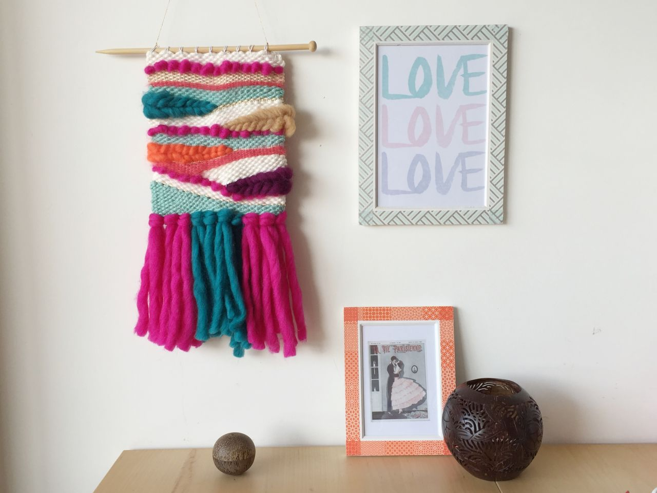 tejer la pared de DIY decorativo - Perles & Co