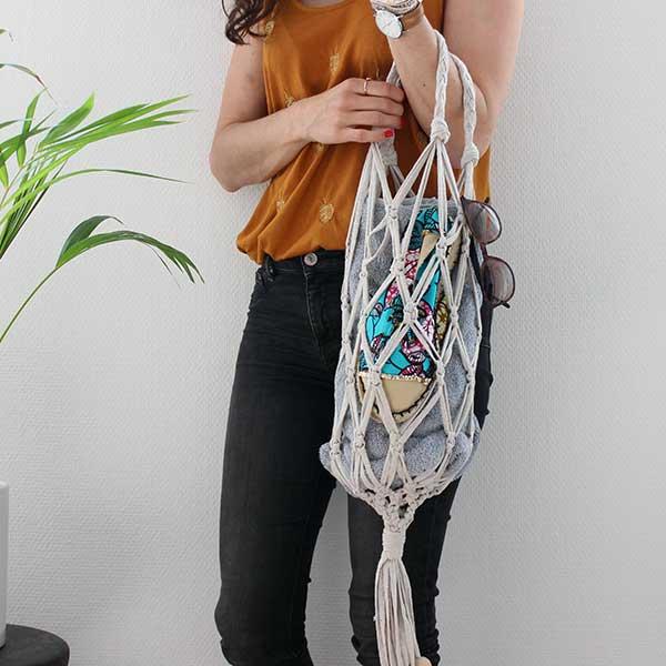 01a5d5e76 Bolsa de red de macrame DIY con hilo trapilho - Perles & Co