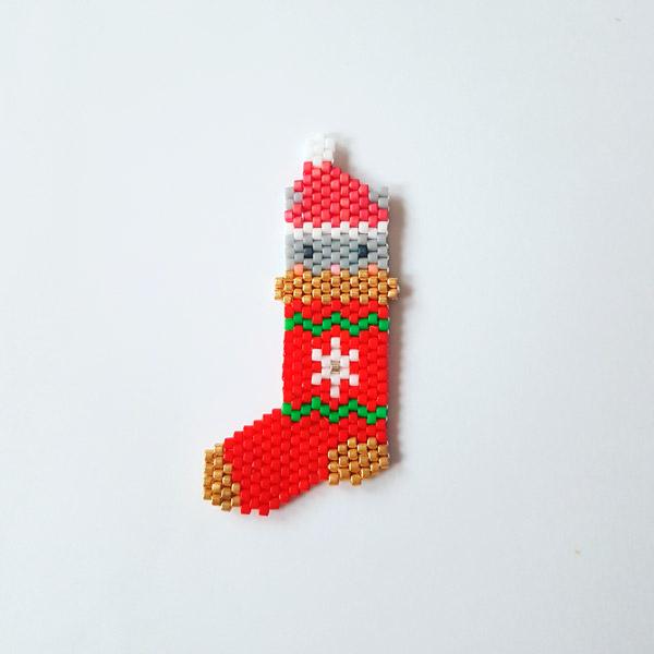 Navidad que almacena el patrón de tejido de ladrillo coser con ...