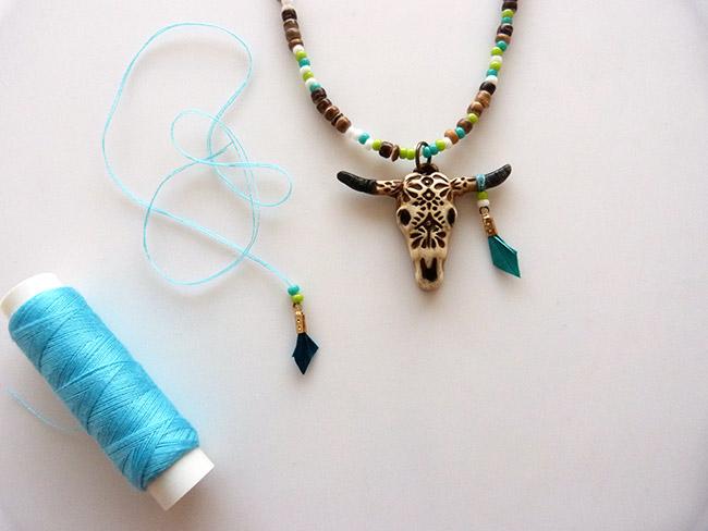 boho puente cabeza de búfalo polímero - Perles & Co