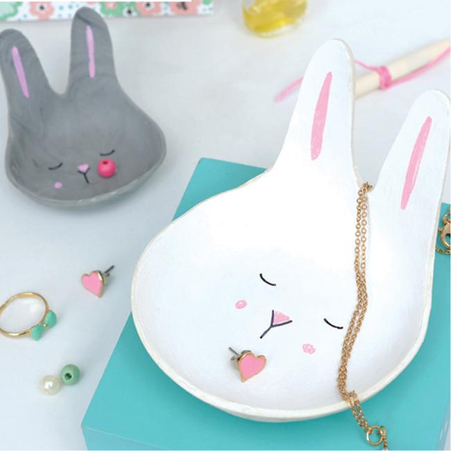Taza de conejo DIY en pasta para modelar sin cocinar WePAM - Perles & Co