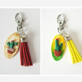 Keyring cactus in polymer clay