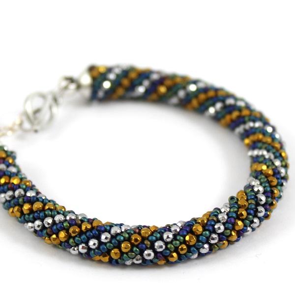 Hacer una pulsera espiral de Rusia con el mini hematita - Perles & Co