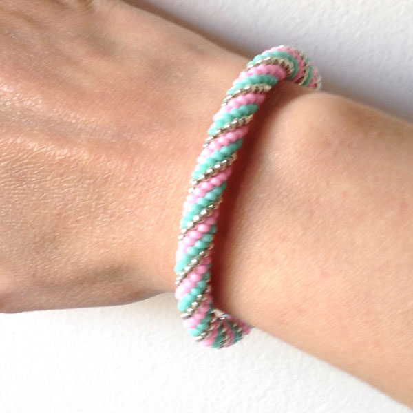 Spiral Crochet Bracelet With Beads Perles Co